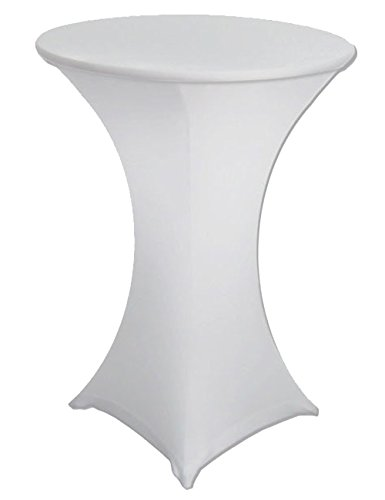 Antuen 24x43 Round Cocktail Table Cover Spandex Stretch Tablecloth White