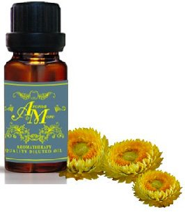 Immortelle Absolute (Helichrysum) Dilute 10 % (France) (Helichrysum italicum) (Earthy Scent) 10 ml (1/3 Fl Oz) Premium Grade-Beauty