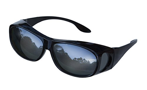 LensCovers Sunglasses Wear Over Prescription Glasses. Polarized Size - Around Wrap For Sunglasses Men