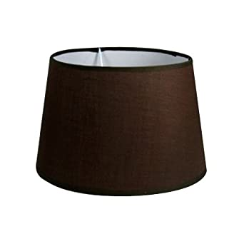 Litecraft - Brown Drum Lamp Shade - 25cm: Amazon.co.uk: Lighting
