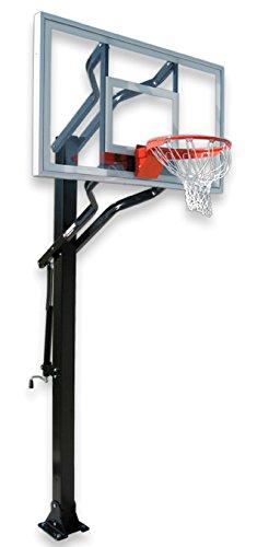 最初チームチャレンジャーターボsteel-glass in ground調整可能バスケットボールsystem44、スカーレット B01HC0CHQA