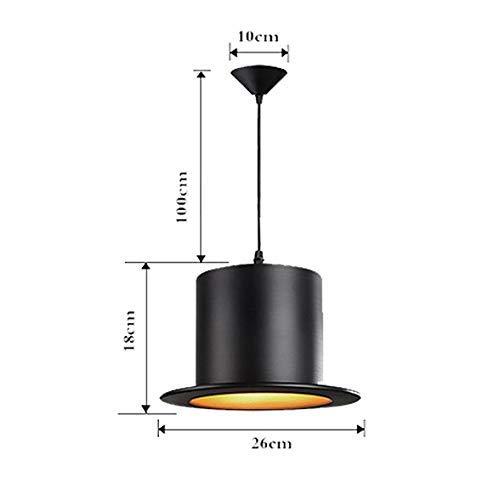 (JZX American Retro Square Top Hat Chandelier Creative Simple Loft Industrial Style Wrought Iron Lampshade Eye Indoor Lighting Living Room Bedroom Study Porch Villa Fixture 220/240W)