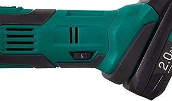 cargador r/ápido accesorios y bolsa de almacenamiento Herramienta de oscilaci/ón inal/ámbrica VPower 20V VONROC incluye 2 bater/ías 2.0Ah