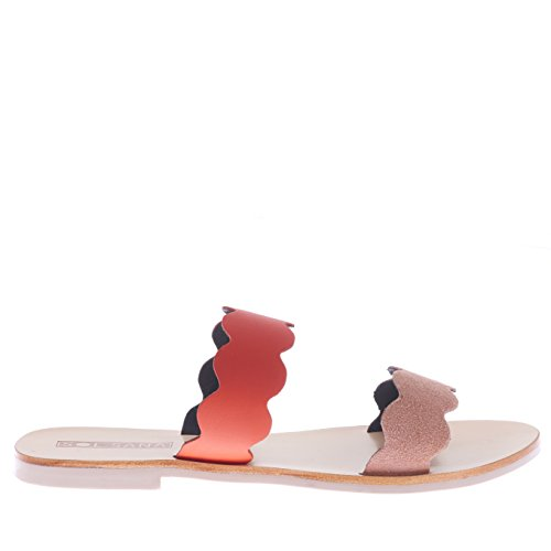 Pink Multicolour Lt Flame Sana Women Wave Slide Sol FIYa4qx
