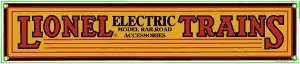 Railroad Sign- Lionel Trains / Yellow Electric