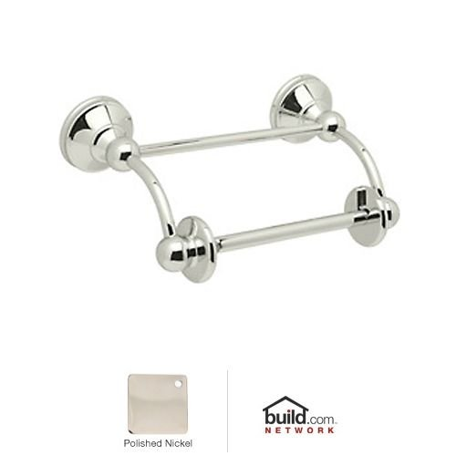Rohl U.6648 Georgian Era Double Post Toilet Paper Holder with Swinging Arm, Polished Nickel by Rohl