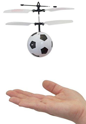 MukikiM Mini Flyer - Soccer / Watch it hover, float and fly like magic. Bring a smile to your face as you have fun flying. (Newest version featuring USB charging!) (Flyer Transmitter)