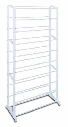 UPC 811817020132, REAL HOME Innovations 023-23044 30-Pair Shoe Rack, White