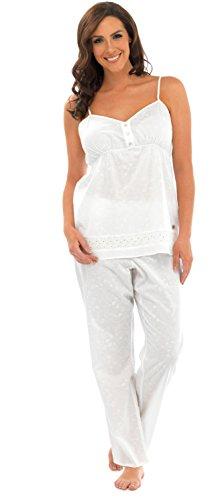 Para mujer Tejido pijama Set–Disponible en 2colores blanco