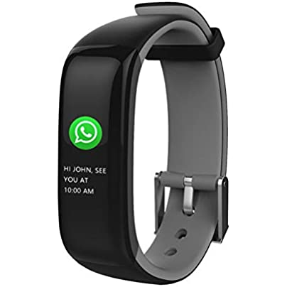ZCPWJS smart wristband Smart Bracelet Plus Fitness Bracelet Color Screen Heart Rate Monitor Sports Health Fitness Tracker Message Remind Smart Band Gray Estimated Price £59.92 -