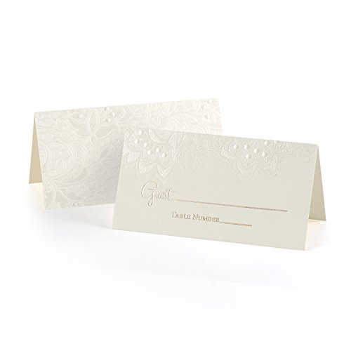 Hortense B. Hewitt 40428 Lace Shimmers 25Count Lace Shimmers Place cards (Card Shimmer)