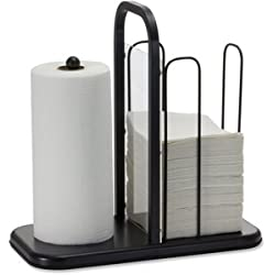 Officemate BreakCentral Breakroom Napkin and Towel Holder, Black (28001)