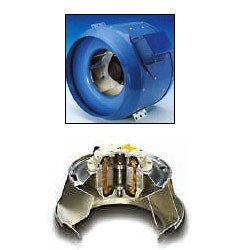(Fantech FKD 10 Inline Mixed Flow Duct Fan, 910 CFM 115/1/60, 10
