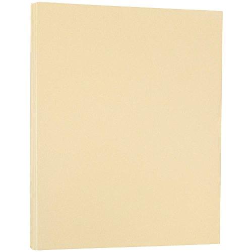 JAM PAPER Translucent Vellum 30lb Paper - 8.5 x 11 - Spring Ochre/Peach - 100 Sheets/Pack