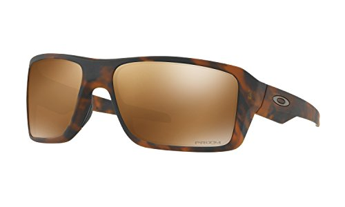 Oakley Double Edge Sunglasses Matte Tortoise with Prizm Tungsten Polarized Lens + - Safety Glasses Polarized Oakley