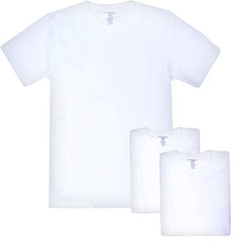 Lucky Brand Mens 3 Pack Crew Tees White S