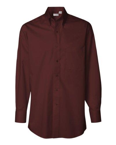 Van Heusen Men's Long Sleeve Twill Button Down Dress Shirt 13V521 red X-Large ()