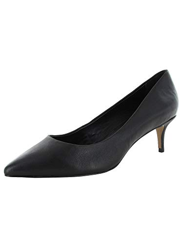 STEVEN by Steve Madden Women's KAVA Pump, Black Leather, 8 M US