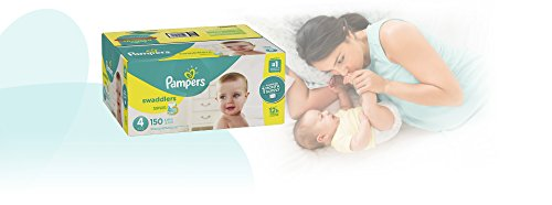 Large Product Image of Pampers Swaddlers Disposable Baby Diapers Size 4, 150 Count, ONE MONTH SUPPLY