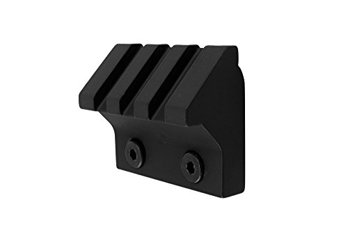 45 Degree Picatinny Rails (Monstrum Tactical 45 Degree Offset Picatinny Rail Section for Keymod (3 Slot/1.5 inch) (Black))