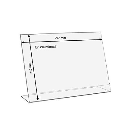 10 pieza DIN A4 L Soporte de/expositor horizontales de ...