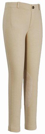 (TuffRider Children's EcoGreen Bamboo Tights | Color - Denim, Size - 8)