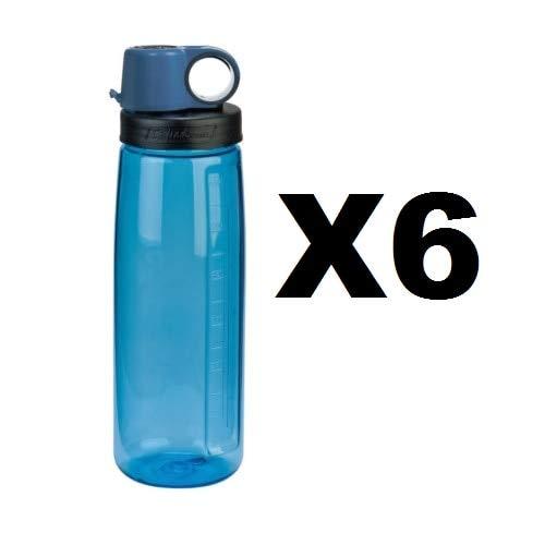 Nalgene Tritan OTGウォーターボトル24ozブルーon the Go Flip Top BPAフリー6パック B01MT93J7J