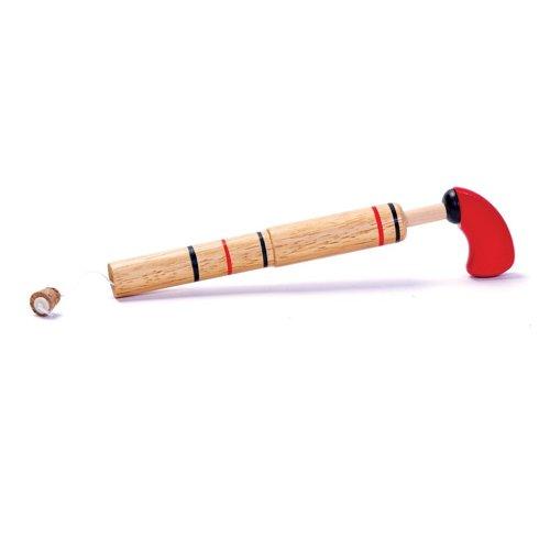 Bois-Pop Gun Avec Cork captif Jouet en bois fait un bruit fort et sec