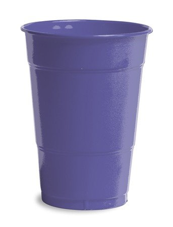 Creative Converting 28115081 Purple Plastic Cups, 16 Oz Solid (12pks Case)
