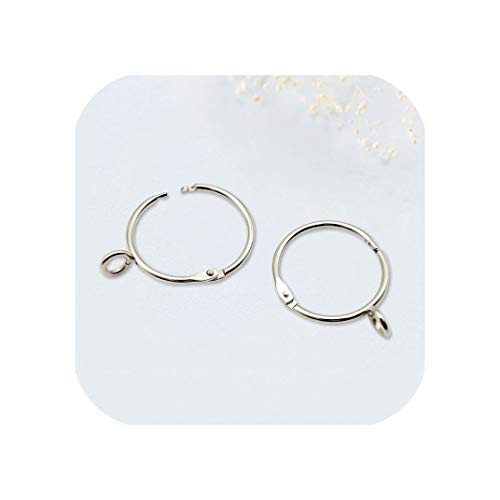 (Metal Silver Color Open Curtain Ring Hooks Clips Roman Circle for Ring Curtain Opening Ring Curtain Buckle Hanging Ring,Diameter 38 Mm,50 Pieces)