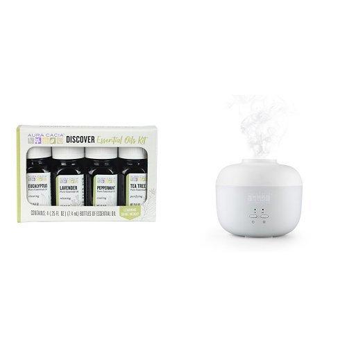 Aura Cacia Discover Essential Oils Kit and Diffuser