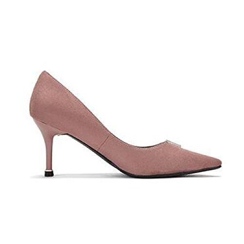 Salón Negro 7 Pink 5 De UK 5 EU Party Tacón snfgoij Mujer De Zapatos Zapatos Alto Commuting 5cm Sexy Lady Nightclub 38 WeddingDaphne Trabajo De De nwYqqzUH