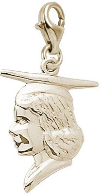 rembrandt-charms-girl-silhouette-with-graduation-cap-charm-with-lobster-clasp-10k-yellow-gold