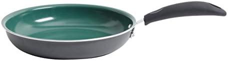 Gibson Home 62411.01 Hummington 12-Inch Ceramic Non-Stick Open Fry Pan, Green