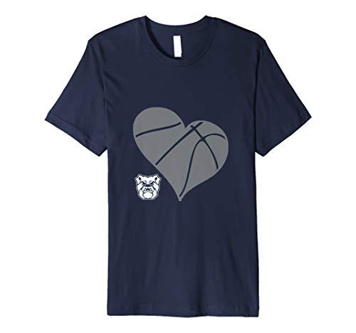 Butler Bulldogs Bu Basketball Heart T-Shirt - Apparel