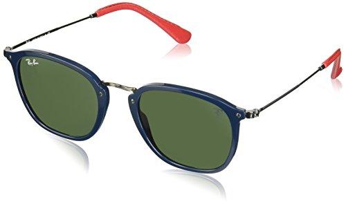 Ray-Ban RB2448NM Scuderia Ferrari Collection Square Sunglasses, Blue/Green, 51 ()