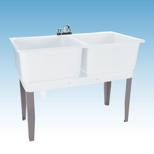 Mustee 24C Utilatwin Combo Laundry/Utility Tub Kit, White by Mustee