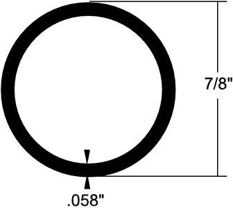 7/8'' ALUMINUM ROUND TUBE 12'