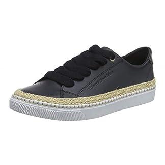 Tommy Hilfiger Damen Tommy Jute City Sneaker, Blau (Midnight 403), 39 EU 13