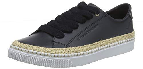 Tommy Hilfiger Damen Tommy Jute City Sneaker, Blau (Midnight 403), 39 EU 1