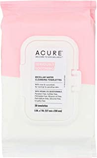 product image for ACURE Seriously Soothing Micellar Water Towelettes, 100% Vegan (Pack of 3)