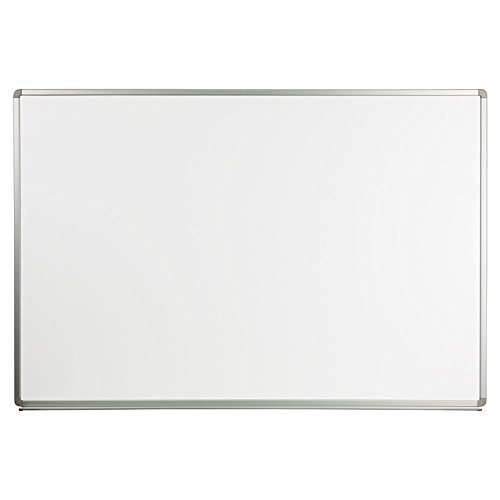 Offex OF-YU-120X180-WHITE-GG Magnetic Marker Board, Dry Erase Board, Writing Surface, For Classroom, Office, School Writing Surface Aluminum Frame, 6 x 4 Feet, Porcelain White by Offex