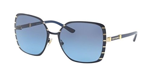 Tory Burch Women's 0TY6055 57mm Midnight Navy/Gold/Blue Gradient One - Tori Burch Sunglasses