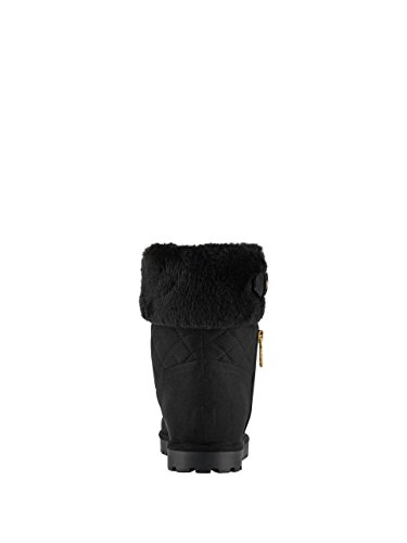 Women's GUESS Fabric Lined Black Fur Bootie FEBE Multi Pdqrdvw