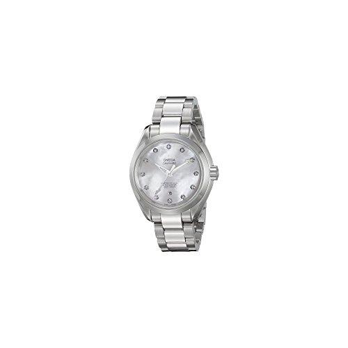 Aqua Terra Stainless Steel Watch - Omega Women's 'Aqua Terra' Swiss Quartz Stainless Steel Dress Watch, Color:Silver-Toned (Model: 23110342055002)