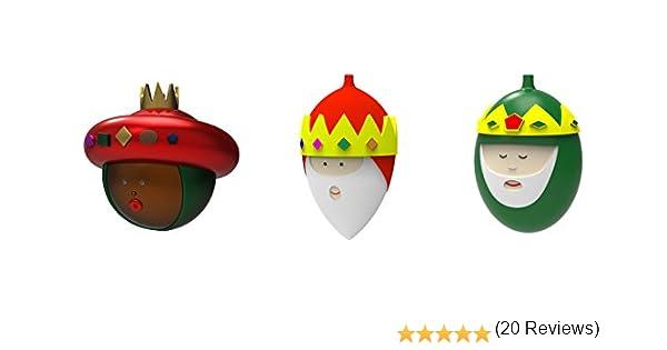 Alessi Gaspare Melchiorre e Baldassarre AMJ14SET2 Juego de Bolas de Árbol de Navidad con los Reyes Magos en Vidrio Soplado, Decorado a Mano, 3 Piezas: Amazon.es: Hogar