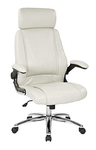 Office Star Sinclair Contour Faux Leather Seat and Back, Fli