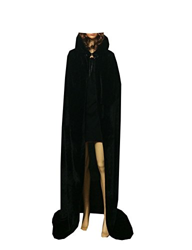 Unisex-adult Halloween Costumes Wizard Cloak God of Death Cape Witch Robe Black2 (Small) (Creative Halloween Costumes For Teens)