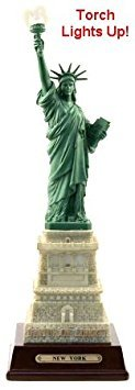 Statue of Liberty Replica - 10 1/2 inches tall with Color Changing Torch Light, Statue of Liberty Souvenir