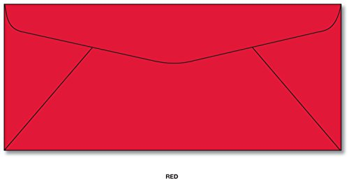 Red Envelopes - Size #10 (4 1/8 x 9 1/2) 50 Envelopes (Business Envelopes Red)